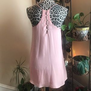 Love Lucy Love Gorgeous Peach Button Racerbck Dres
